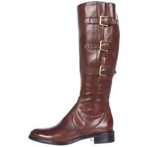 Ecco Hobart Buckle Equestrian Riding Boot in Brown